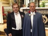 Pasquale Borreggine con il reggente dell'Ordine per l'Emilia Romagna conte avv. Alessandro Travaglini